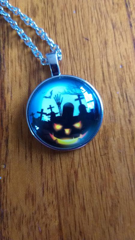 Haunted Pumpkin Necklace