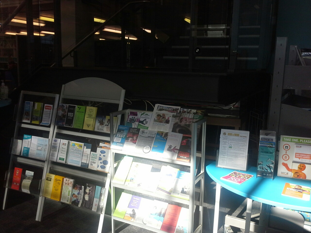BEFORE: Hutt City Libraries Poster/Brochure Display