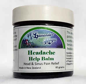 Headache help balm for head and sinus pain by Lavender Magic