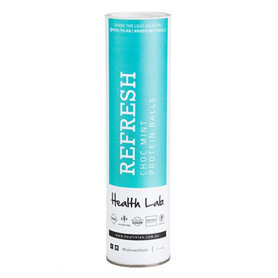 Health Lab Refresh Choc Mint Protein Ball Cannister
