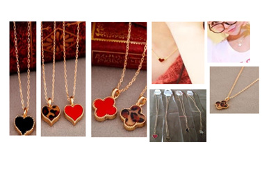 Heart and Clover Necklace