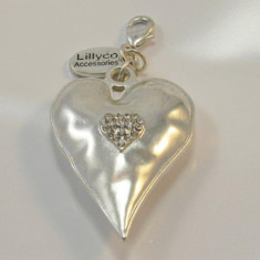 Heart and Crystal Pendant