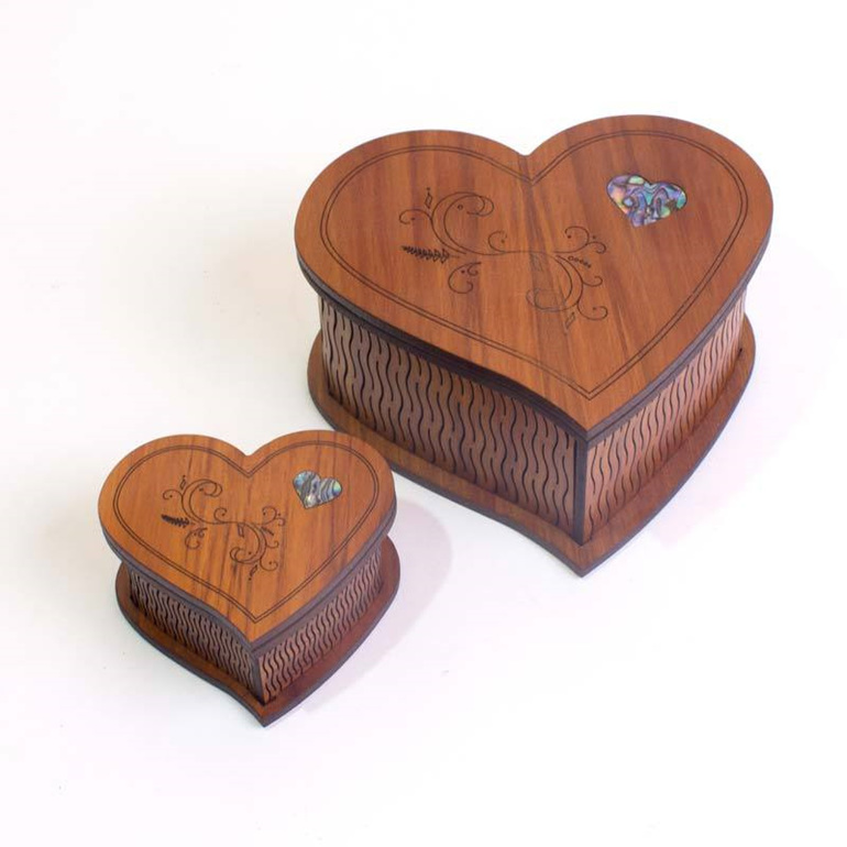 heart boxes small and large