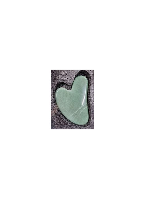Heart Gua Sha Plate Green Aventurine