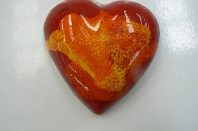 Heart in Box - Red, Orange-variation