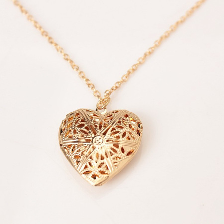 Heart Locket Necklace - Gold