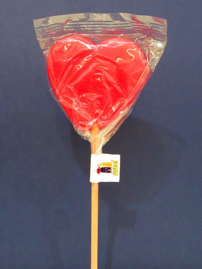 HEART POP, RED, MANGO FLAVOUR, 8cm.