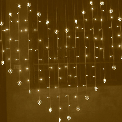 LED Heart Shaped Fairy Lights - Warm White
