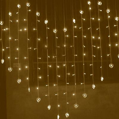 LED Heart Shaped Fairy Lights - Warm White