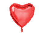 Heart Shaped Helium Balloon - Red, Silver or Pink