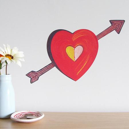 Heart wall decal