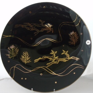 Heath Castle black and gold plate