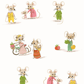Heather Ross Country Mouse/City Mouse 50897