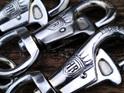 Heavy Duty Chain Link Dog Leash Leather Handle