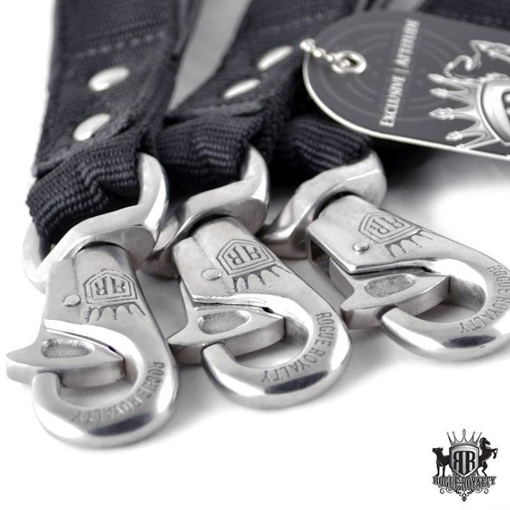 Heavy Duty Nylon Short Handle Leash by Rogue Royalty
