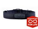 Heavy Duty Slimline Black Nylon Dog Collar by Rogue Royalty