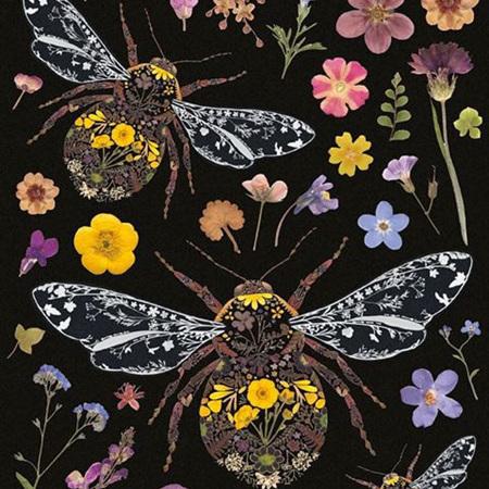 Helen Ahpornsiri 3 Bumble Bees Card