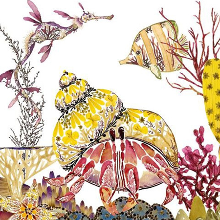 Helen Ahpornsiri Hermit Crab Card