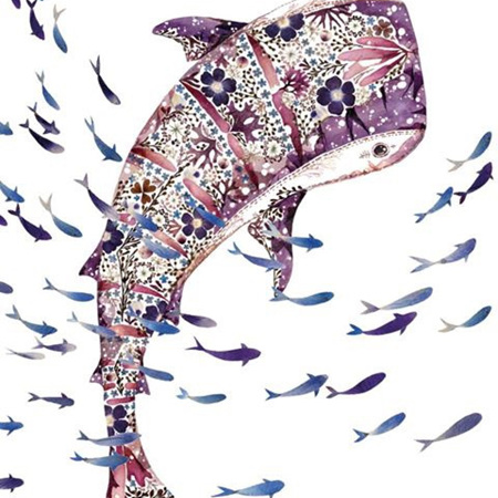 Helen Ahpornsiri Whale Shark & Shoal Card