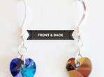 Heliotrope coloured crystal Front and Back