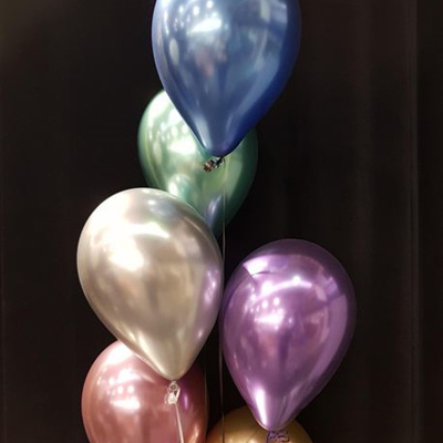 Helium Filled 11inch Balloon Chrome