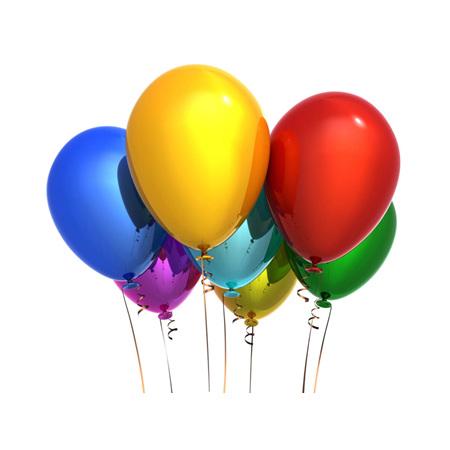 Helium Filled 11inch Balloon Plain or Metallic