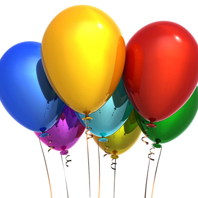 Helium Filled 11inch Balloon Plain or Metallic