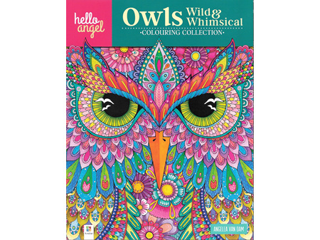 Hello Angel Colouring Book Owls Wild & Whimsical