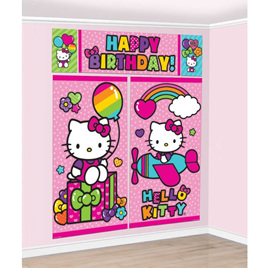 Hello Kitty - Happy Birthday Wall Decorating Kit
