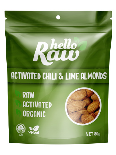 Hello Raw Activated Almonds Chilli & Lime 80g