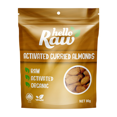 Hello Raw Activated Almonds Curried 80g