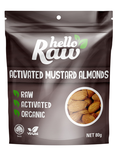 Hello Raw Activated Almonds Mustard 80g