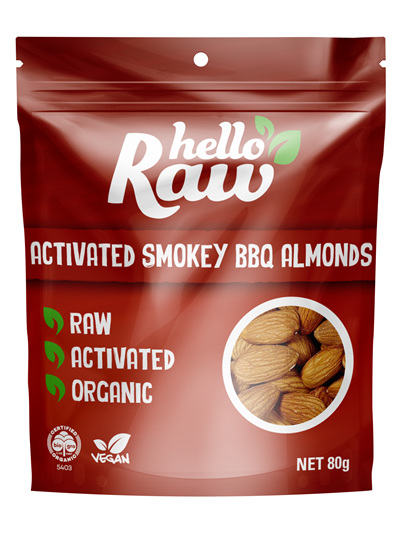Hello Raw Activated Almonds Smoky BBQ 80g