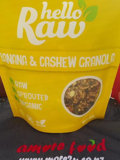 Hello Raw Granola (Banana & Cashew) - 350g
