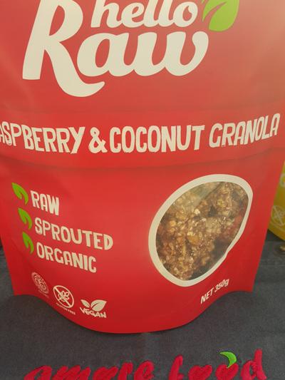 Hello Raw Granola Raspberry & Coconut 350g