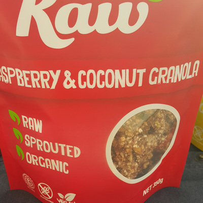 Hello Raw Granola Raspberry & Coconut 350g