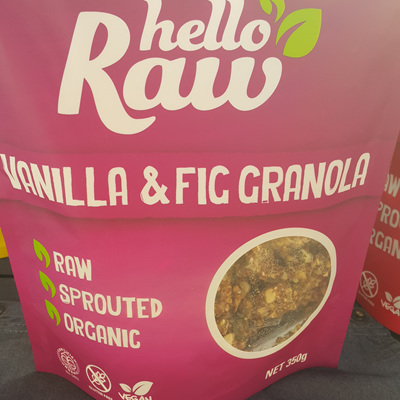 Hello Raw Granola Vanilla & Fig 350g