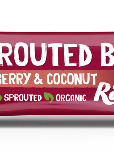 Hello Raw Sprouted Bar Raspberry & Coconut 45g