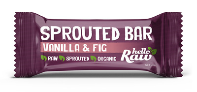 Hello Raw Vanilla & Fig  Sprouted Bar - 45g