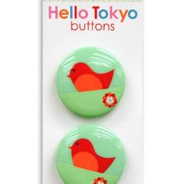 Hello Tokyo - Birdie Shank Button 3pk