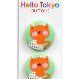 Hello Tokyo - Kittie Shank Button 3pk