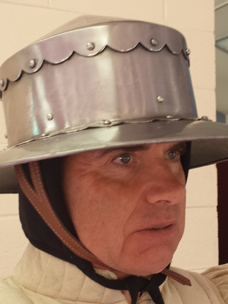 Helmet 12 - 14th to 15th Kettle Hat with Conical Top