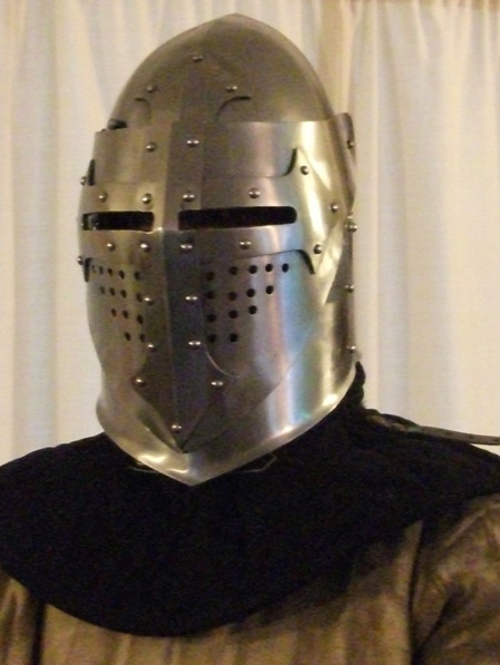 Helmet 14 - 14th Century Bascinet with Plain Visor