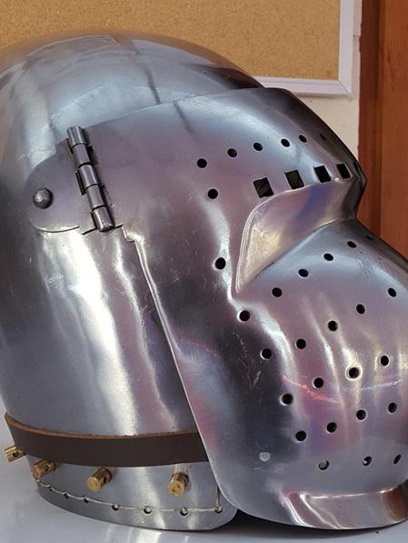 Helmet 18 - 14th to 15th Century Visored Bascinet with Rounded Visor
