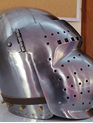 Helmet 18 - 14th to 15th Century Visored Bascinet with Rounded Visor