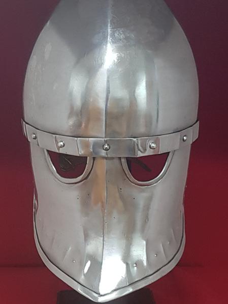 Helmet 6A - 12th Century Italo-Norman Helmet with Iron Face Plate