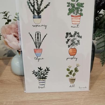 Herb Chart A4 Print