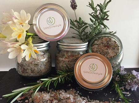 herbal aromatics bath salts (250g)
