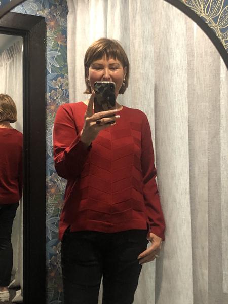 Herringbone Sweater - Garnet
