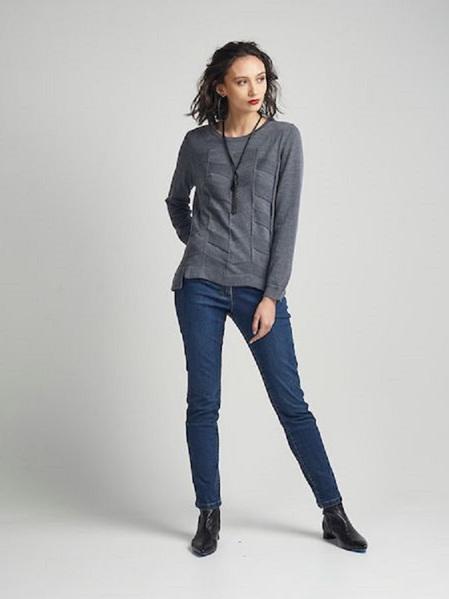 Herringbone Sweater - Grey Marle